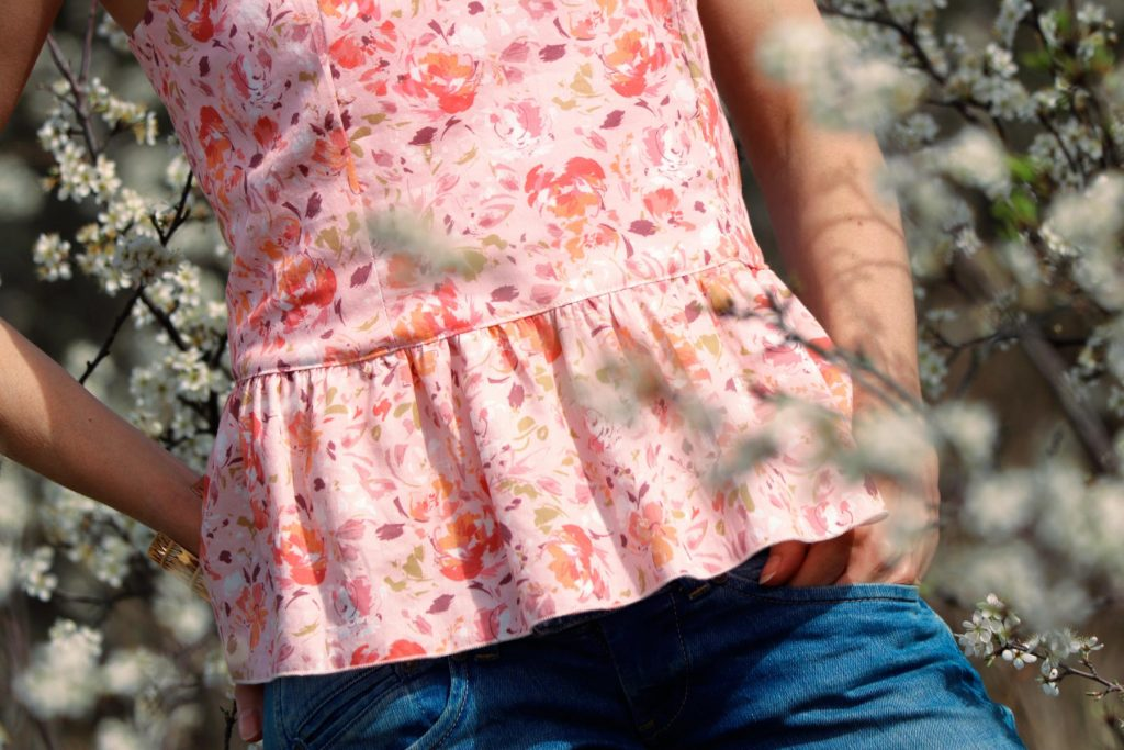 patron de couture top caraco bustier Caeli sewing soon